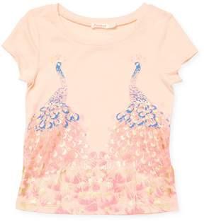 Billieblush Little Girl's Metallic Graphic T-Shirt