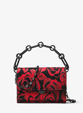 Michael Kors Yasmeen Small Rose Jacquard Clutch - RED - STYLE