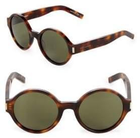 Saint Laurent 52MM Round Sunglasses