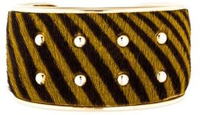 Tod's Striped Ponyhair Cuff