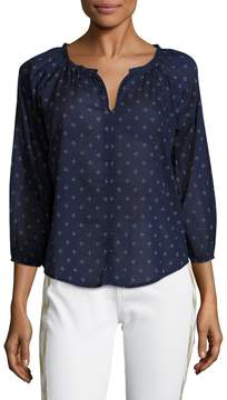 Velvet by Graham & Spencer Women's Printed Cotton Top