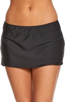 Athena Cabana Solids Laurette Aline Skirted Bikini Bottom - 8149097