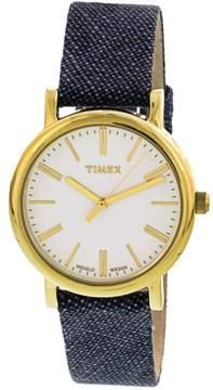 Timex Women's Originals TW2P63800 Gold Leather Japanese Quartz Fashion Watch