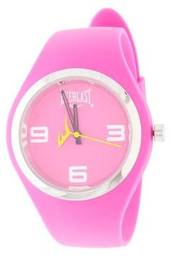 Everlast Ladies' Soft Touch Rubber Strap and Case with Metal Bezel Watch - Pink