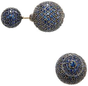 Artisan Women's Sapphire Ball Earrings