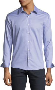 Neiman Marcus Slim-Fit Non-Iron Wear-It-Out Foulard Sport Shirt, Blue