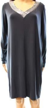 Calvin Klein Women's Sequined Draped Back Jersey Dress