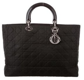 Christian Dior Nylon Large Lady Dior Tote