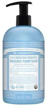 Dr. Bronner's 4-IN-1 Sugar Baby Organic Pump Soap Unscented