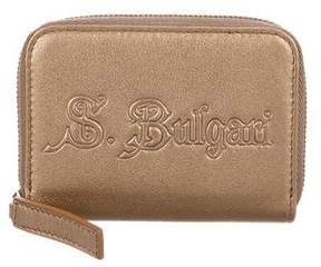 Bvlgari Metallic Mini Zip Wallet