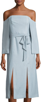 C/Meo Off-The-Shoulder Crepe Dress