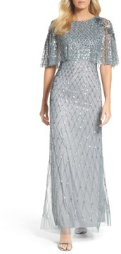 Adrianna Papell Women's Popover Bodice Beaded Gown