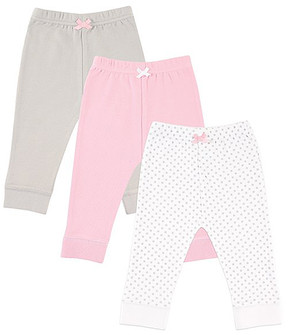 Luvable Friends Pink & Gray Joggers Set - Newborn & Infant
