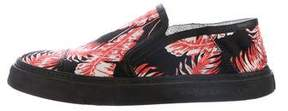 Marc Jacobs Leaf Print Slip-On Sneakers