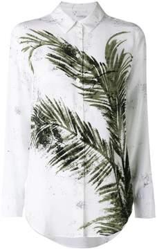 Equipment printed leaf shirt