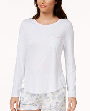Lush Ande Luxe Lace-Pocket Pajama Top
