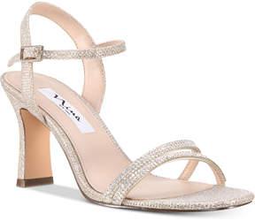 Nina Avalon Embellished Ankle-Strap Evening Sandals Women's Shoes