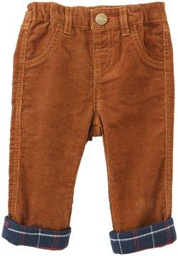 Mud Pie Baby Boys 6-18 Months Corduroy Plaid-Cuff Pants