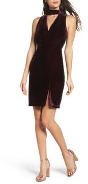 Adelyn Rae Women's Elle Velvet Choker Sheath Dress