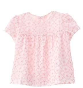 Chicco Girls' White & Pink T-shirt.