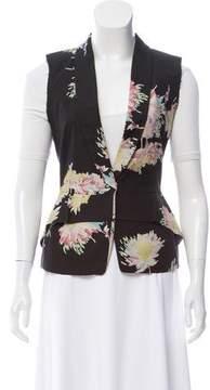 Dries Van Noten Floral Print Casual Vest