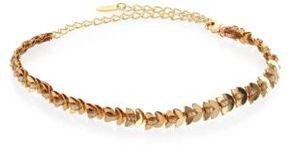 Ettika Thin Fishtail Chain & Suede Choker