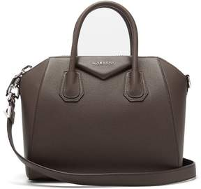 Givenchy Antigona Small Grained Leather Bag - Womens - Grey
