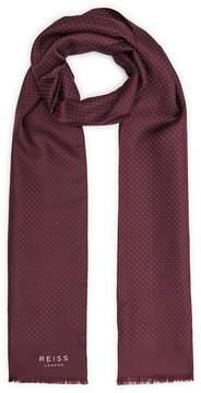 Reiss BILLY Polka dot dress scarf