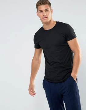Esprit Longline T-Shirt with Raw Edges