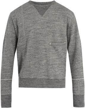 Maison Margiela Crew-neck cotton sweatshirt