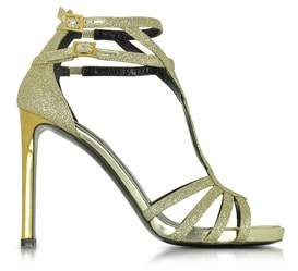 Roberto Cavalli Women's Gold Leather Sandals.