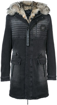 Philipp Plein Lux parka coat with fox fur
