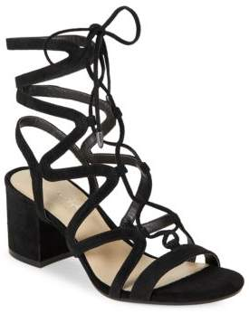 424 Fifth Honey Suede Strappy Sandals