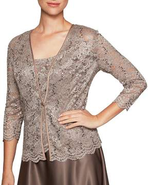 Alex Evenings Sequin Lace Twinset