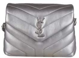 Saint Laurent Women's Silver Leather Shoulder Bag. - SILVER - STYLE