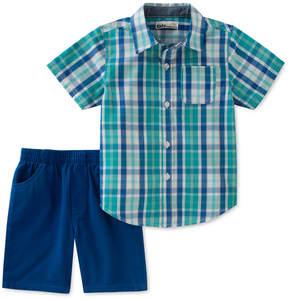 Kids Headquarters 2-Pc. Plaid Shirt & Shorts Set, Baby Boys