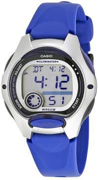 Casio Blue Resin Ladies Digital Watch