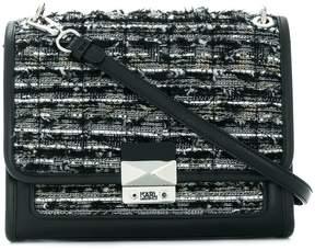 Karl Lagerfeld K/Kuilted Tweed hand bag