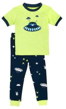 Petit Lem Little Boy's Outer-Space Themed Pajama Set