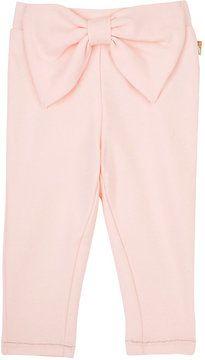 Billieblush STRETCH-COTTON BOW-FRONT PANTS