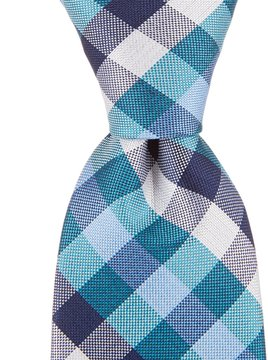 Class Club Checkered Silk Tie