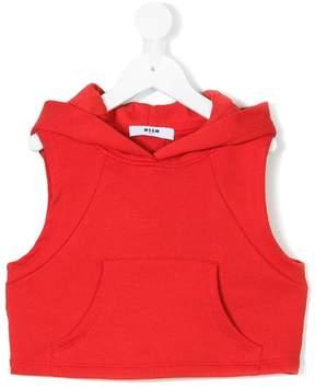 MSGM sleeveless hoodie