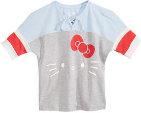 Hello Kitty Big Girls Colorblocked Lace-Up T-Shirt