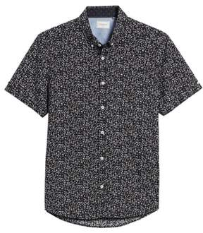 7 Diamonds Dark Star Floral Print Sport Shirt