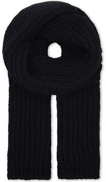 Sandro Ribbed knitted scarf