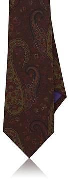 Ralph Lauren Purple Label Men's Paisley Mulberry Silk Crêpe De Chine Necktie