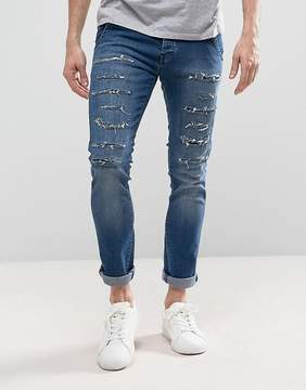 Loyalty And Faith Doric Ripped Skinny Jeans in Stone Wash