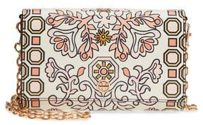 Tory Burch Hicks Garden Party Leather Wallet on a Chain
