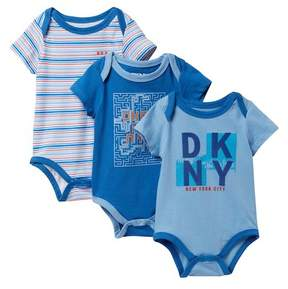 DKNY City View Assorted Bodysuits - Pack of 3 (Baby Boys 0-9M)