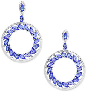 Effy Tanzanite Royale by Tanzanite (4-1/3 ct. t.w.) and Diamond (1/3 ct. t.w.) Drop Earrings in 14k White Gold
